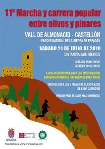 Carrera Entre olivos y pinares Vall de Almonacid 2018 @ Vall de Almonacid | Comunidad Valenciana | España