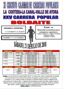 Volta Popular Bolbaite 2018 @ Bolbaite | Comunidad Valenciana | España