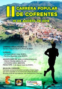 Carrera Popular de Cofrentes 2018