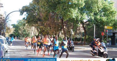 Record del Mundo de Media Maratón pulverizado en Valencia por Kiptum