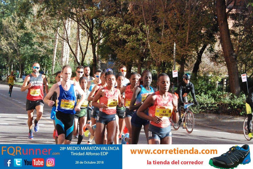 Élite femenina en Medio Maratón Valencia 2018