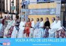 Runners y falleros juntos en la Volta a Peu de les Falles 2018