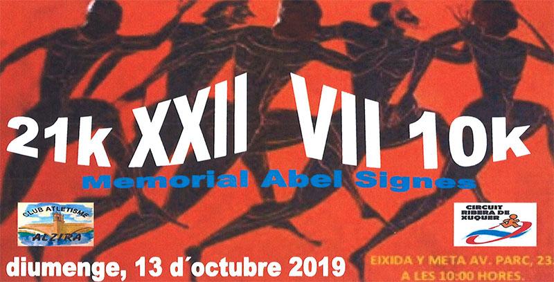 XXII MITJA MARATó ALZIRA - 10K CIUTAT D'ALZIRA MEMORIAL ABEL SIGNES RODRíGUEZ