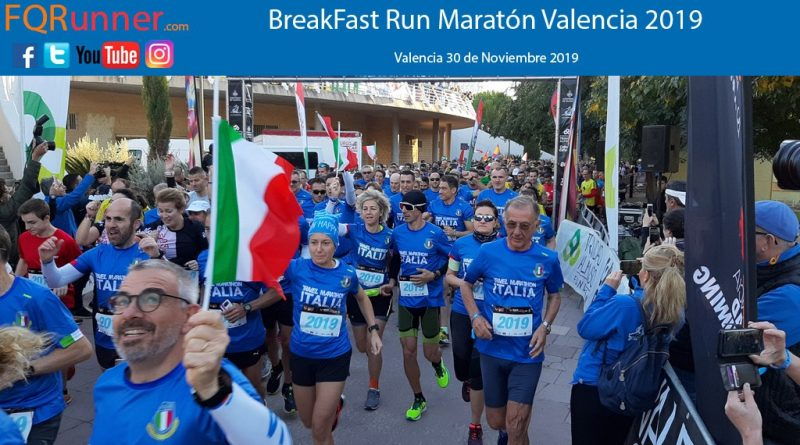Fotos BreakFast Run Maratón de Valencia 2019