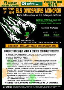 Carreras 5K y 10K Els Dinosauris Moncada 2019 @ Polideportivo La Pelosa | Montcada | Comunidad Valenciana | España