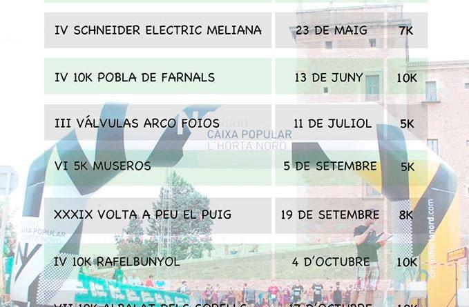 Circuito de carreras populares Caixa Popular L'Horta Nord 2020